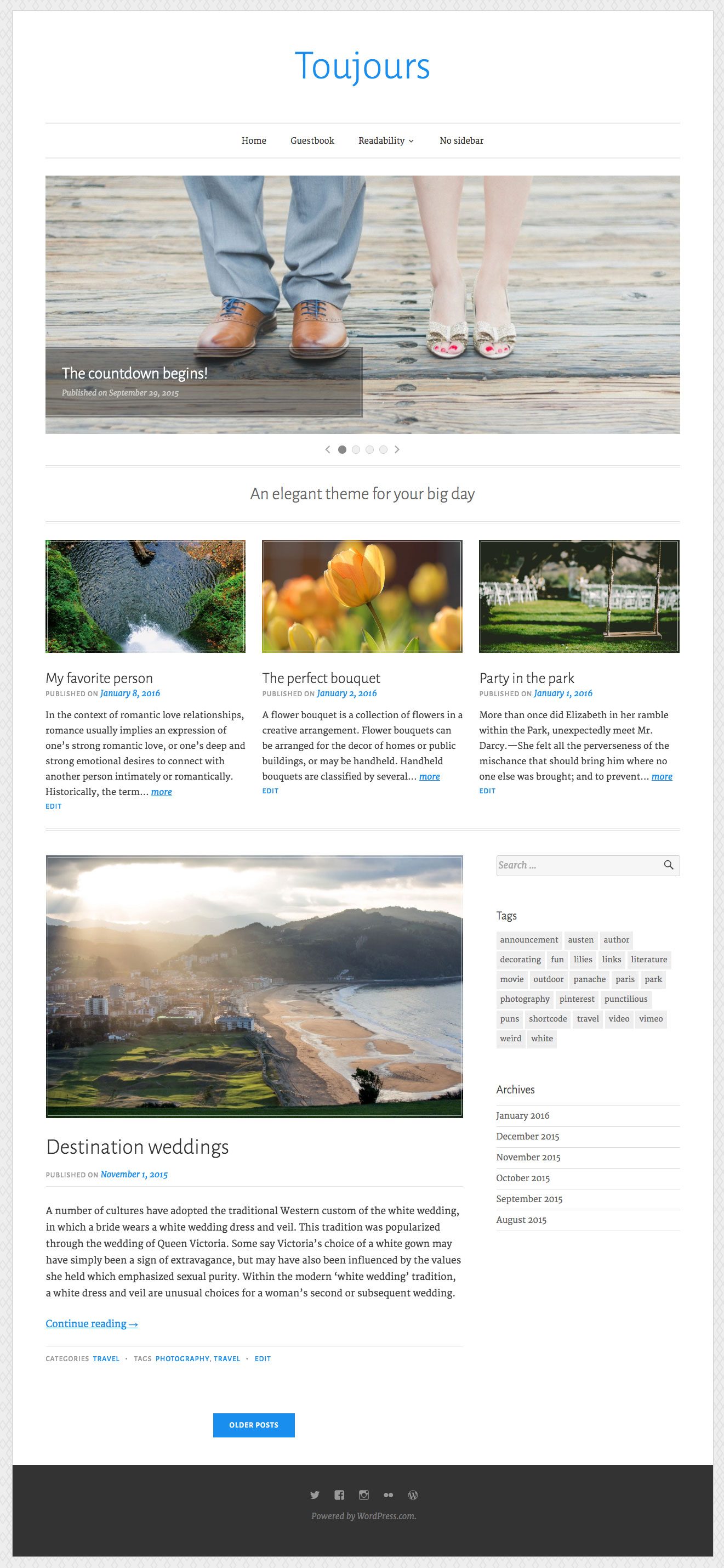 Toujours WordPress Theme