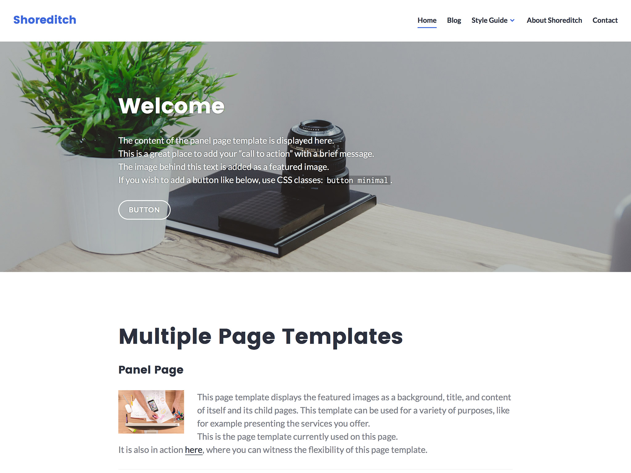 Shoreditch WordPress Theme
