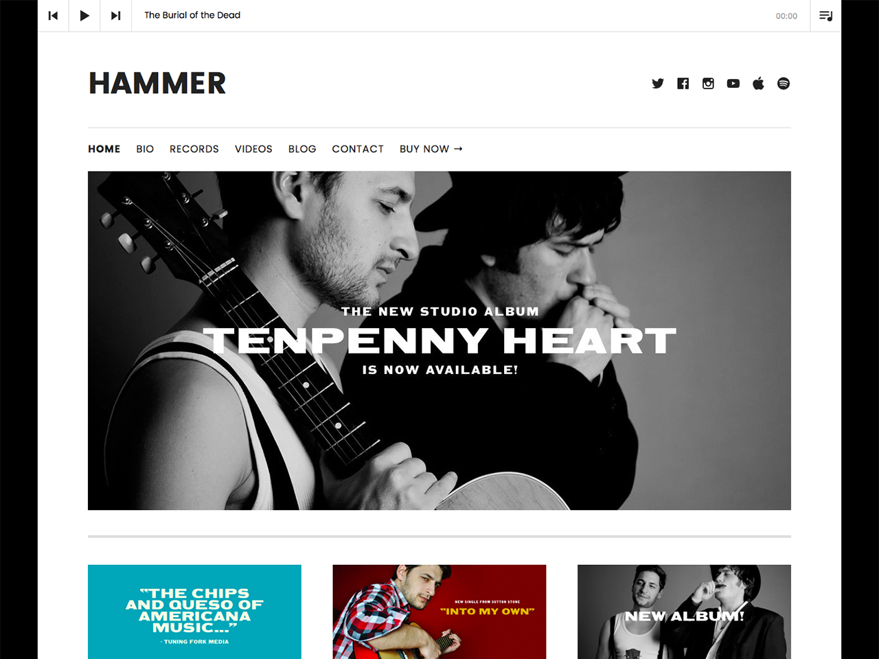 Hammer WordPress Theme