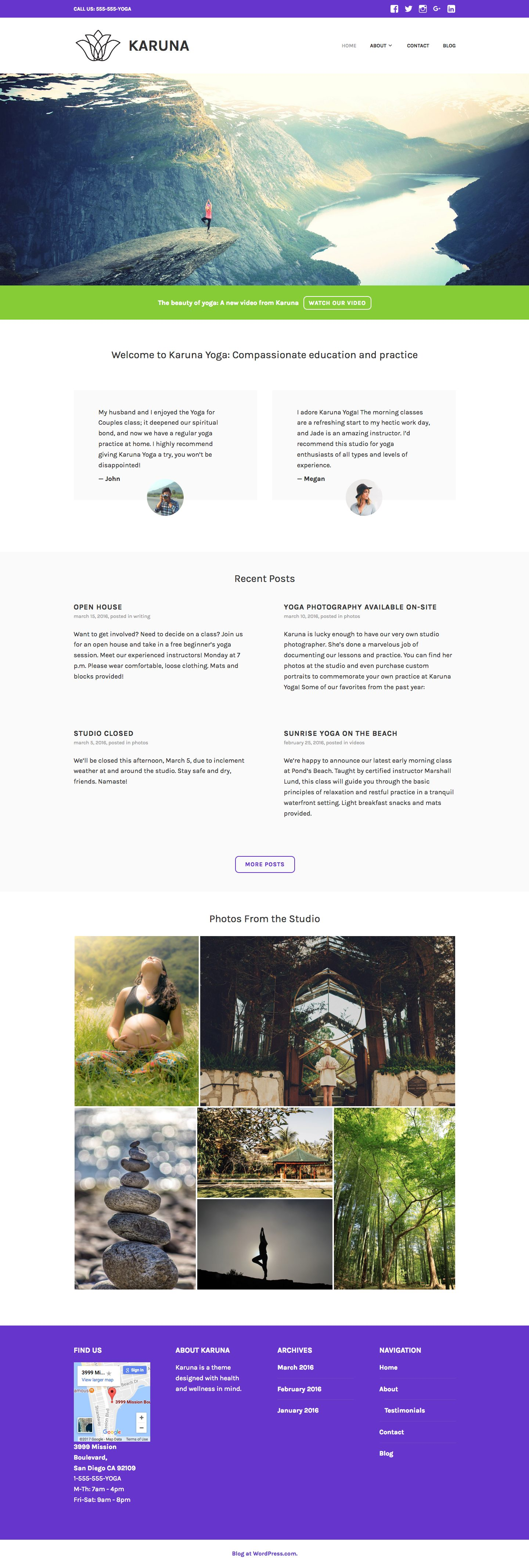 Karuna WordPress Theme