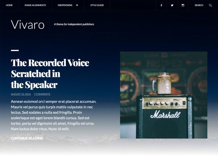 Screenshot of the Vivaro theme