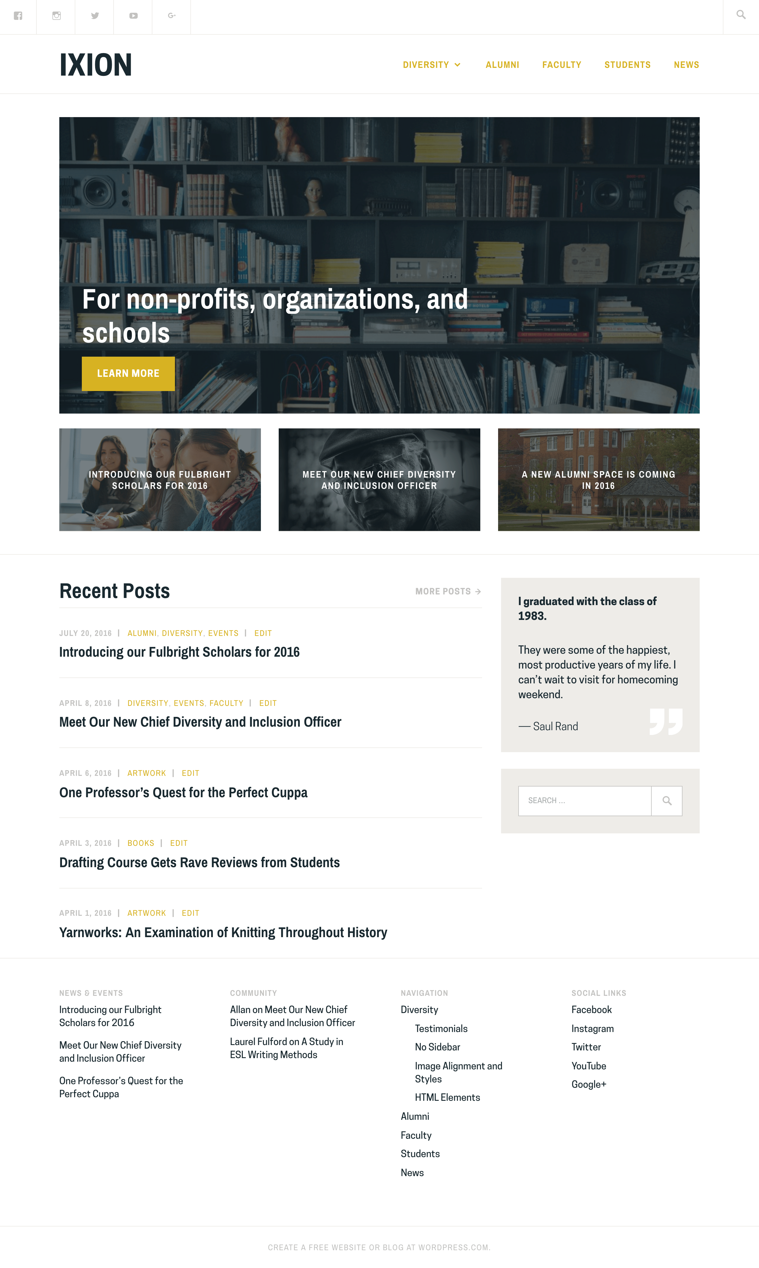 Ixion WordPress Theme