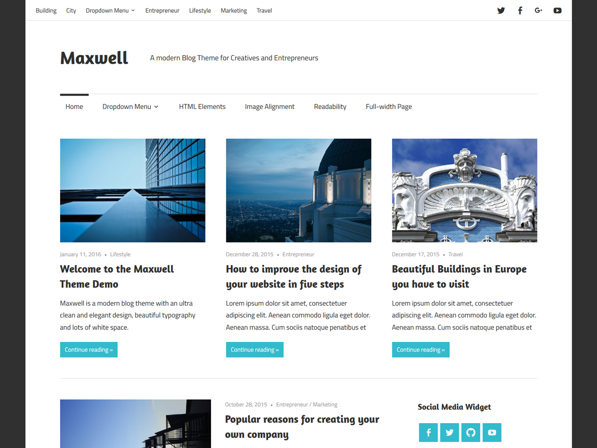 Maxwell WordPress Theme
