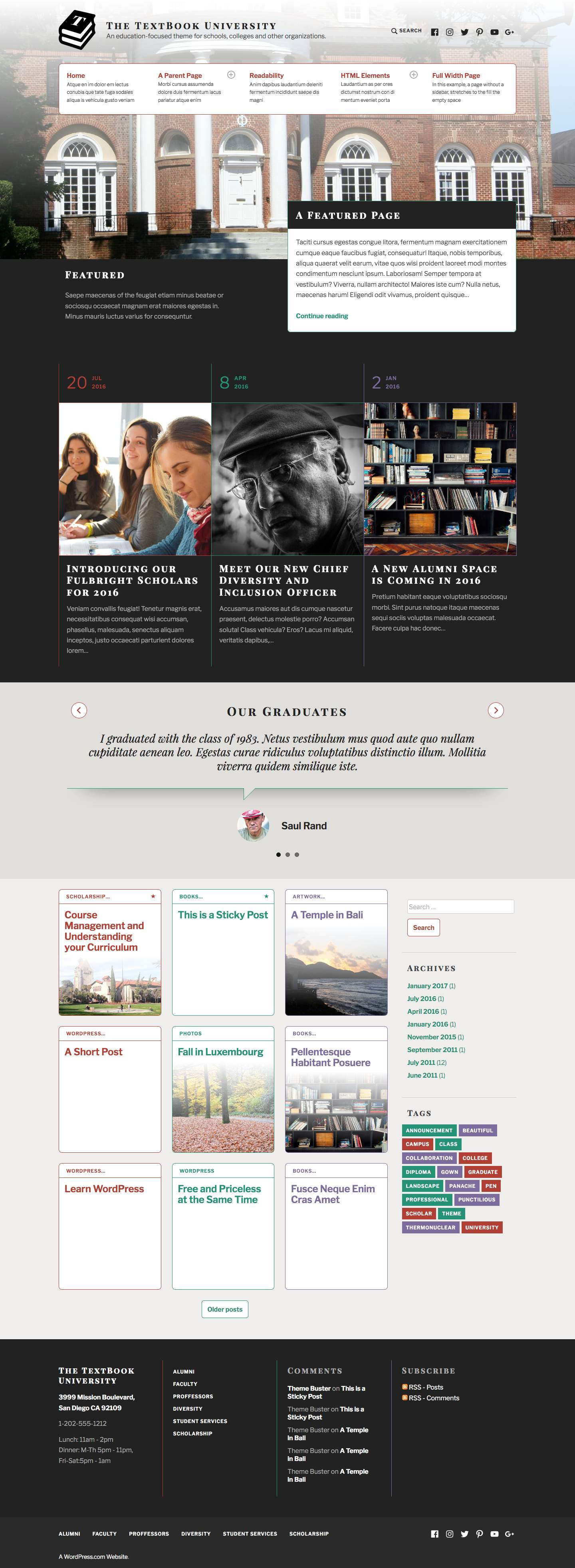 TextBook WordPress Theme