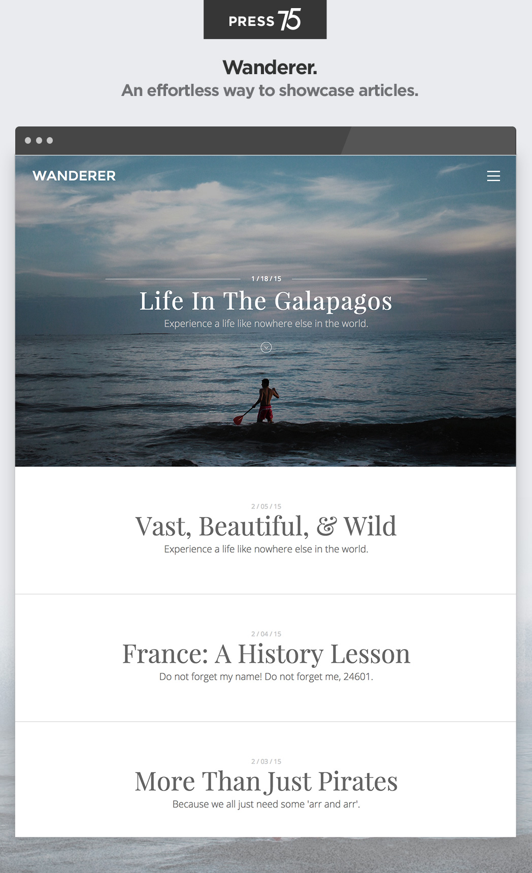 Wanderer WordPress Theme