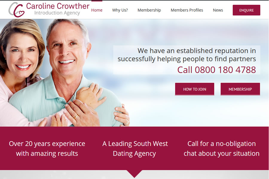 Caroline Crother Dating Website Design
