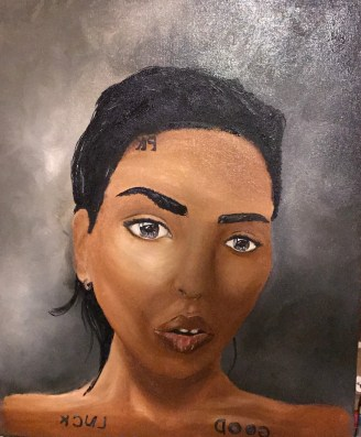 Meador, Tiana. If You Know Her, You Know. 2016. Oil on canvas. 24 x 30in.