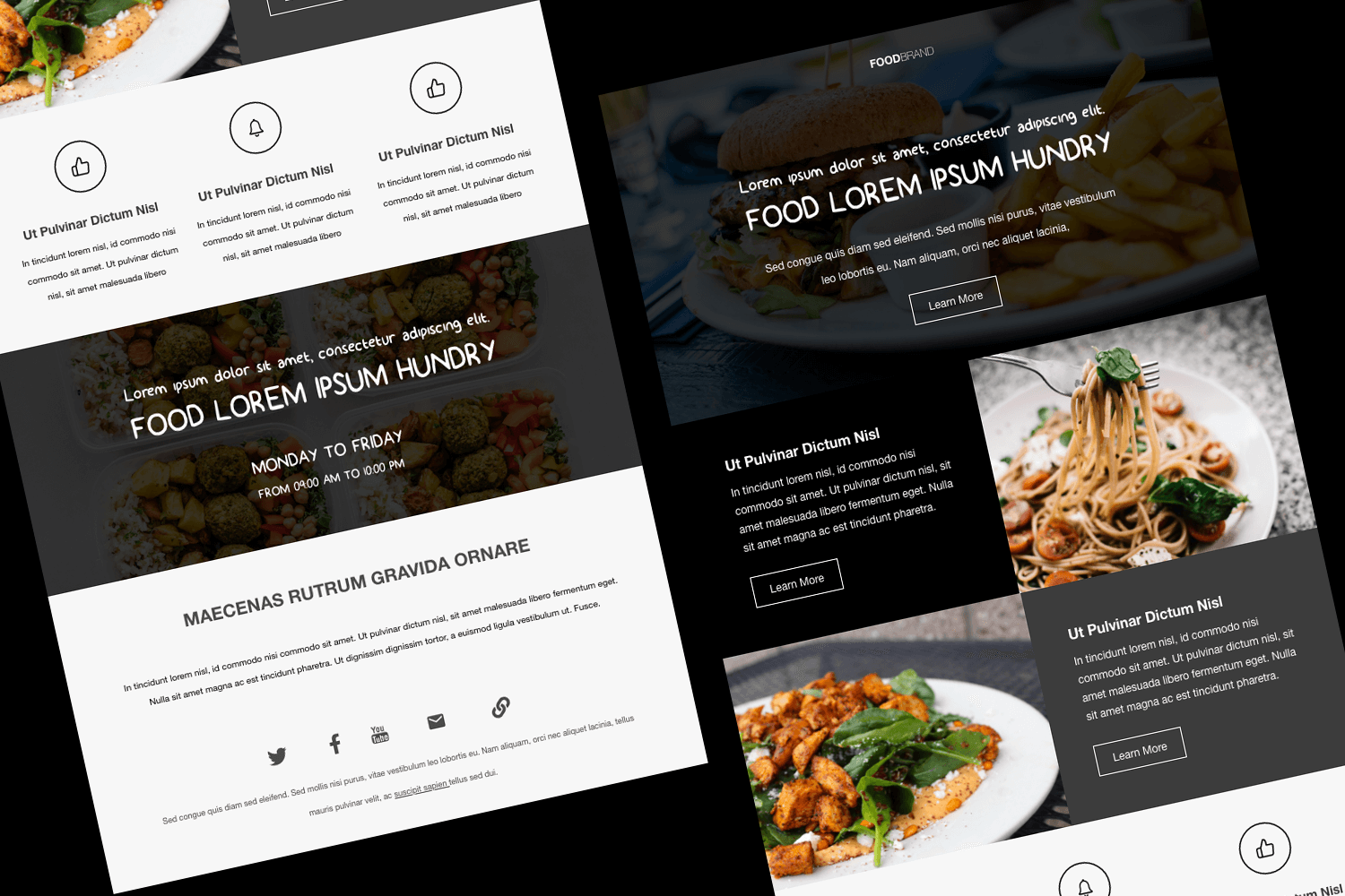 Restaurant Email Template Adobe Xd