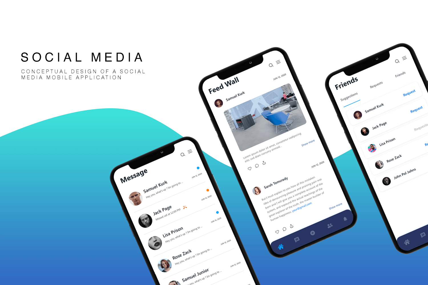 Social Media Mobile App Theme Angel Download Templates