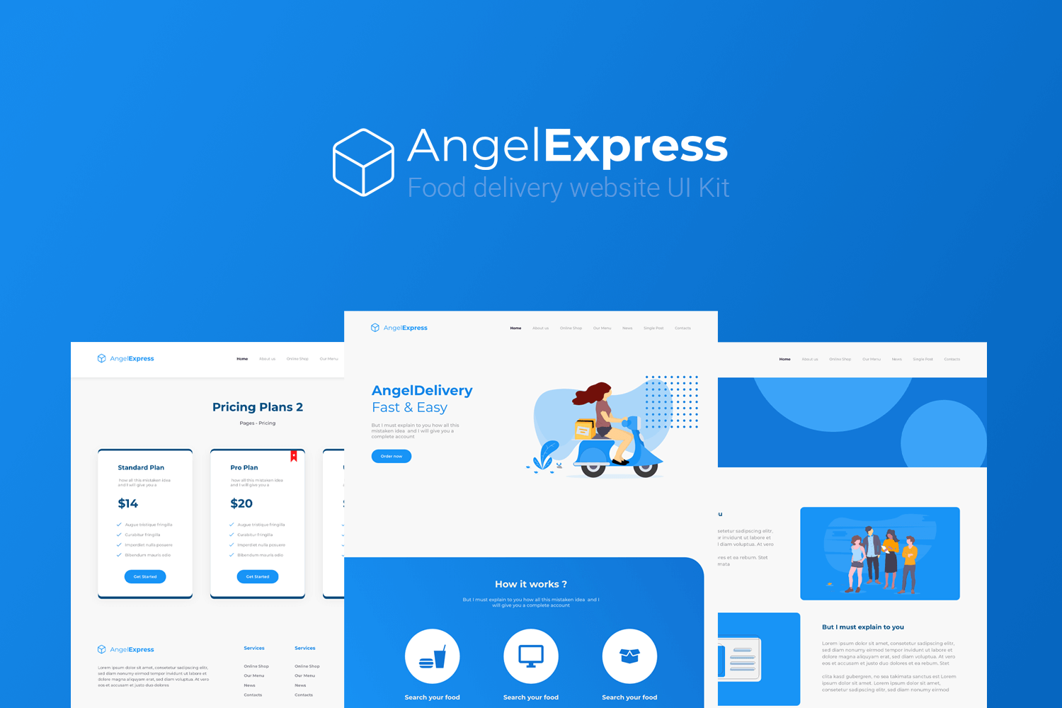 Angel Express - A Food Delivery Website UI Kit