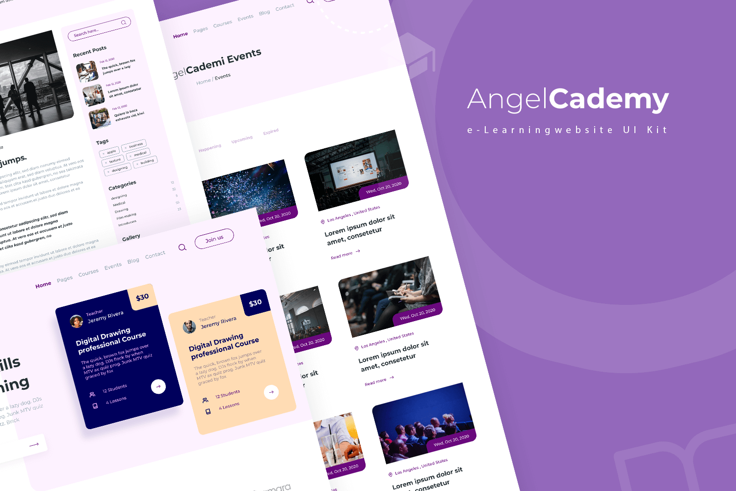 AngelCademy - e-Learning website UI Kit