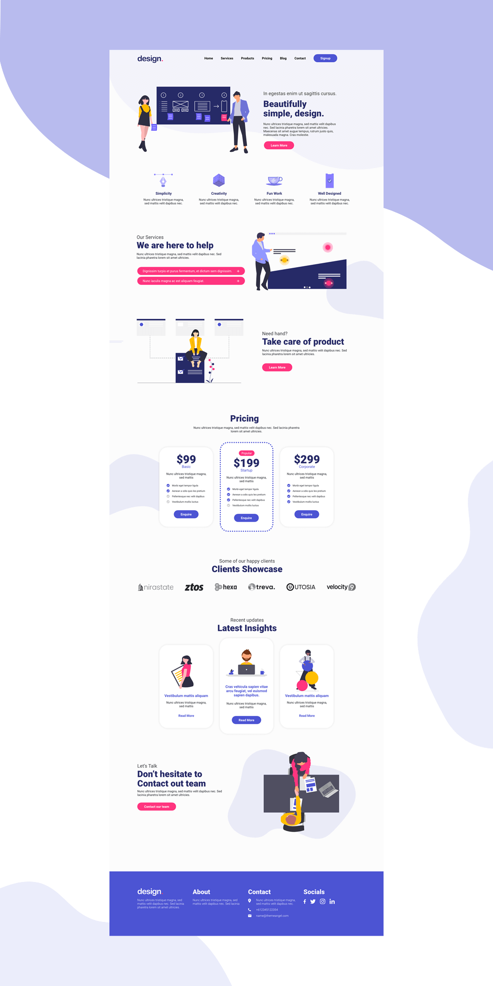 Multipurpose Landing Page for Startups