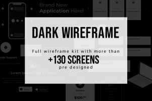 Full Dark Wireframe kit | Theme Angel