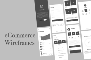 Mobile eCommerce Wireframes Kit