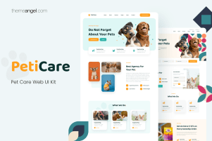 Pet Care Website UI Kit - Theme Angel