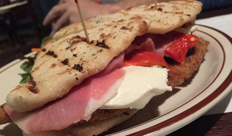 grilled panini sandwich