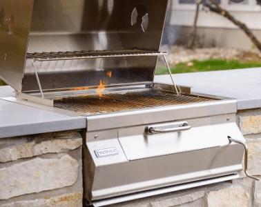builtin gas grill
