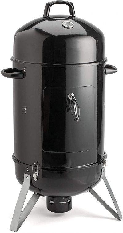 ALEKO 2-in-1 Portable Vertical Charcoal Smoker
