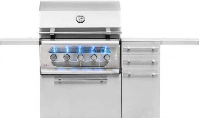 American Muscle Grill 36-Inch 5-Burner Built-In Dual Fuel Wood