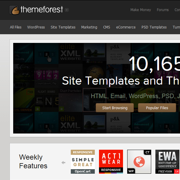 ThemeForest Marketplace