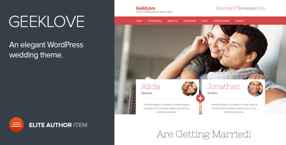 GeekLove - Wedding WordPress Theme