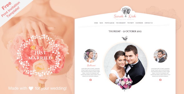 The Wedding Day - Wedding WordPress Theme