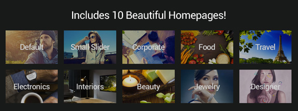 Includes 10 Beautiful Homepages