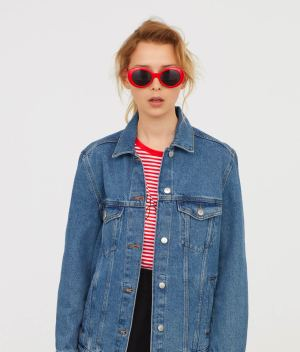 Denim jacket front