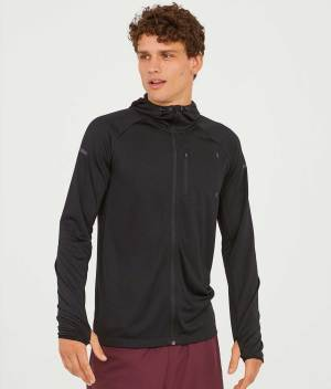 Hooded running jacket front