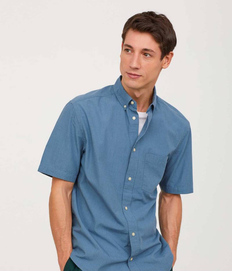 Poplin shirt Regular fit front