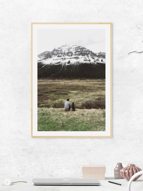 Mountain watching photo frame