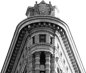 Flatiron building top, transparent background