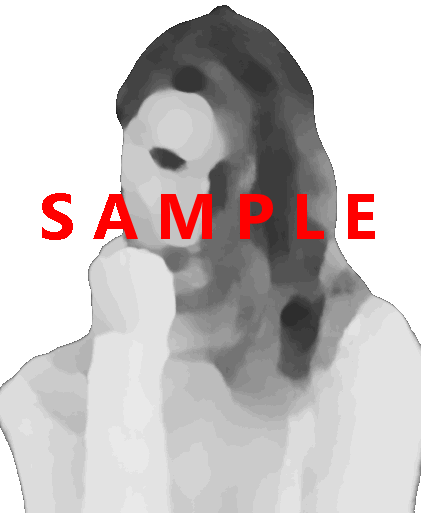 Woman, transparent background