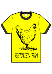 chicken fun t-shirt