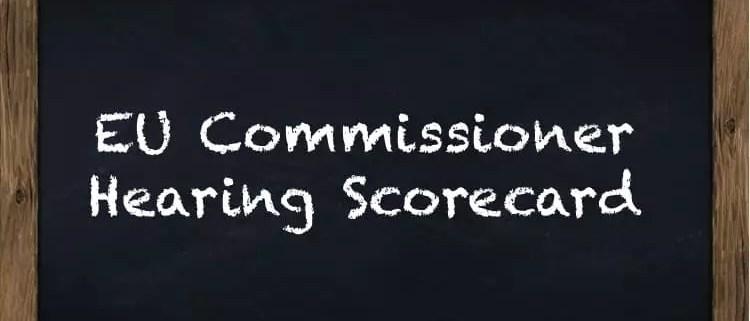 eu commissioner hearings scorecard