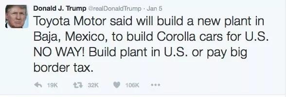 Twitter and PR Donald Trump tweet