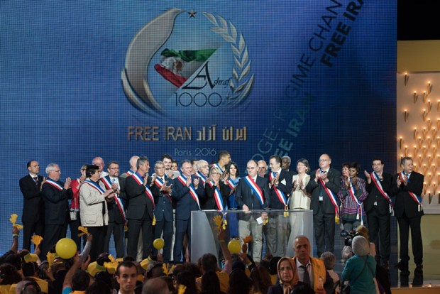 Image: French Senator Vincent Capo-Canellas joined and the French delegation and former officials from France addressing the dozens of tens of thousands of Iranian supports of the regime change at the Free Iran annual on 9th July 2016 at Le Bourget, Paris, France. Copyright Siavosh Hosseini | The Media Express 2016.
