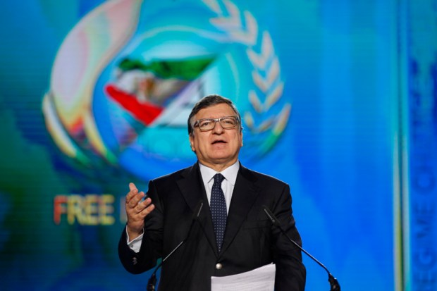Image: José Manuel Barroso, President of the European Commission from 2004-2014 and former Prime Minister of Portugal addressing the diaspora of Iranian communities during the Free Iran annual gathering on 9 July 2016 at Le Bourget, Paris, France. Copyright Siavosh Hosseini | The Media Express 2016.