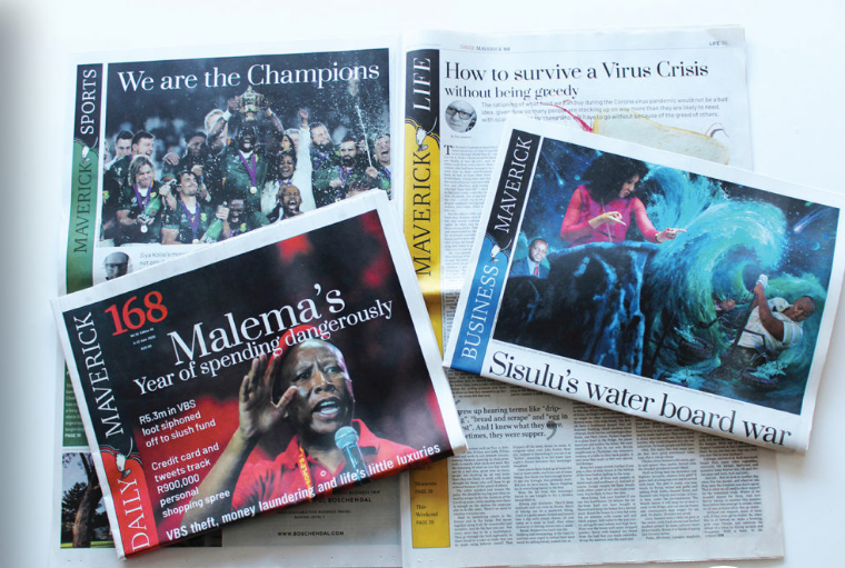 Daily Maverick 168: Renowned digital publisher to launch print title