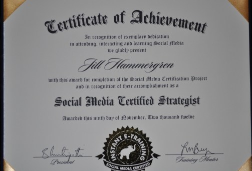 Jill Hammergren, Certified Social Media Strategist