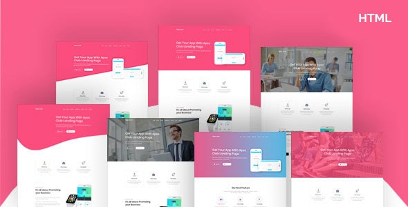 AppsClub – App Landing Page HTML5 Template