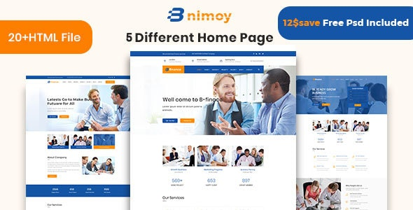 Binimoy - Finance & Business HTML5 Template
