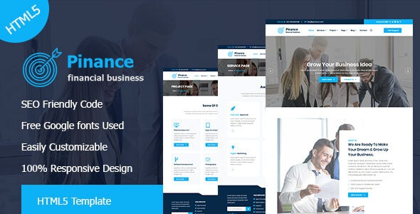 Pinance - Financial & Corporate Business HTML5 Template