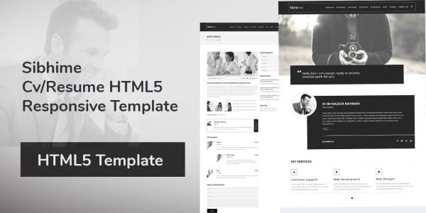 Sibhime - Cv Resume HTML5 Responsive Template