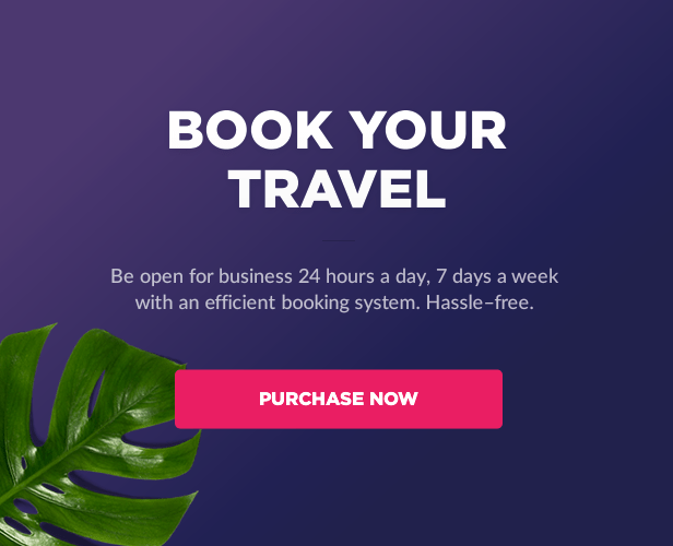 Get started with Book Your Travel - Online Booking WordPress Theme