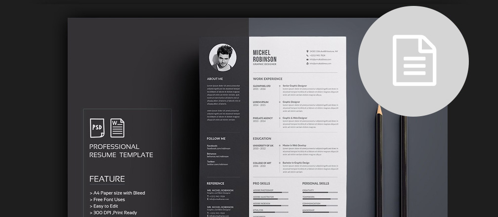 50+ CV / Resume U0026 Cover Letter Templates For Word ...