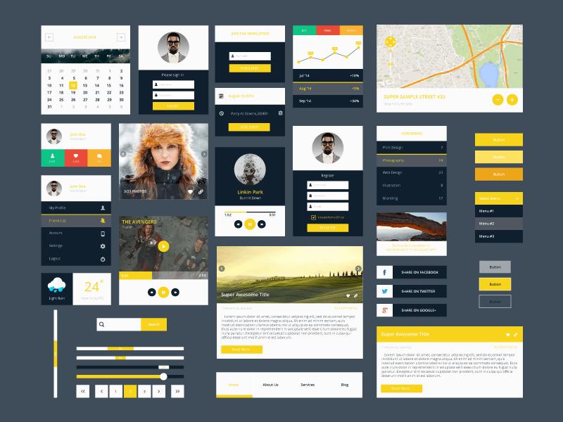 50+ Amazing Free UI Kits for Photoshop & Sketch 2017
