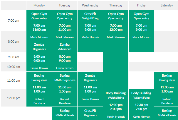 Timetable Responsive Schedule
