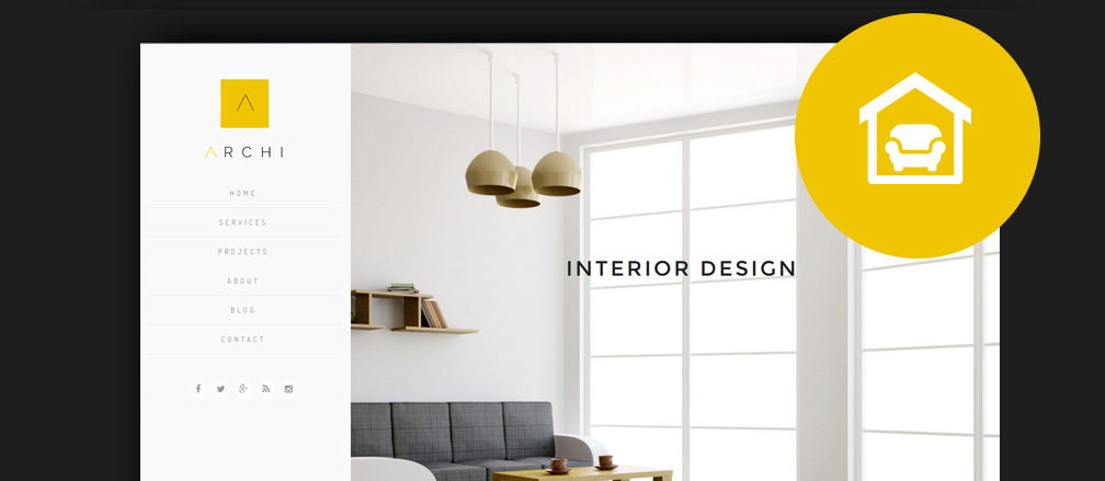 50 best interior design wordpress themes 2017 for Interior designs blogs