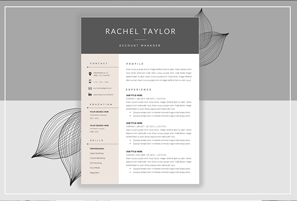 50 CV Resume Cover Letter Templates for Word PDF 2017 – Resume Template and Cover Letter